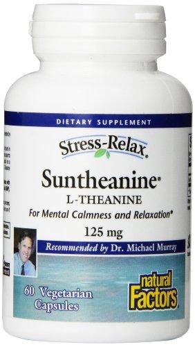 Factores naturales Relax estrés Suntheanine L-teanina Veg-cápsulas, 60-Conde