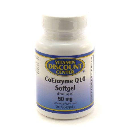 Coenzima Q 10 Softgel 50 mg por Vitamin Discount Center - 30 Cápsulas Blandas CoQ10