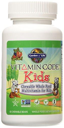 Jardín de vida vitamina código niños, 60 masticables