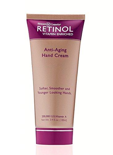 LdeL cuidado de la piel cosméticos Retinol crema de manos, tubo 3,52 onzas