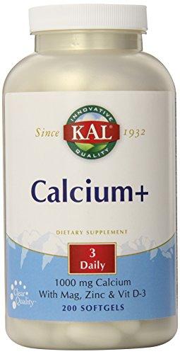 KAL calcio Plus tabletas, 1000 mg, cuenta 200