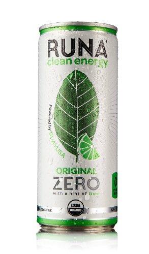 Runa limpia bebida energética, Original con un toque de limón, 8,4 onzas (paquete de 24)