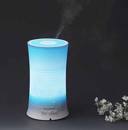 Arova difusor aromaterapia aceite esencial ultrasonidos humidificador de niebla fría con relajante y calmante luz multicolor ideal para hogar, oficina, Spa, sala de bebé etc.