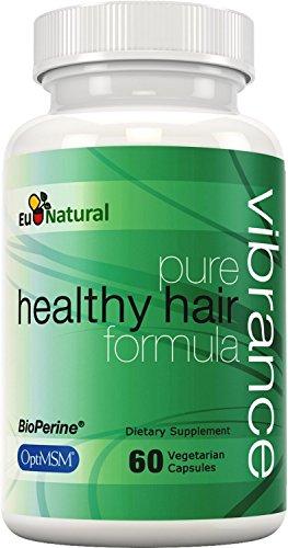 Intensidad de vitaminas para el crecimiento del cabello, 60 cápsulas vegetarianas (fórmula de fuerza Extra para el cabello más grueso, más largo y más vibrante)