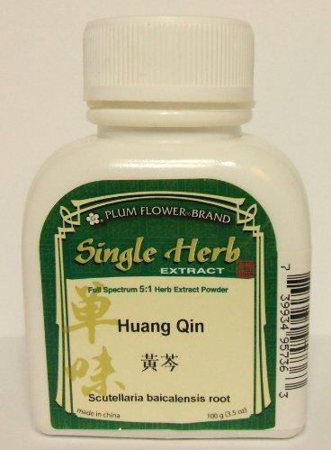 Polvo del extracto de raíz de escutelaria / Huang Qin / Scutellaria Baicalensis, 100g - 3.5oz
