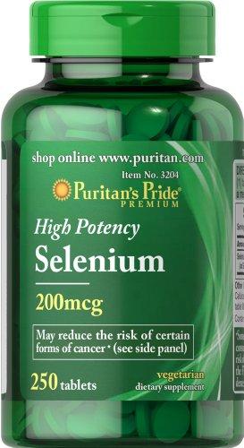 Pride selenio 200 mcg-250 tabletas de Puritan