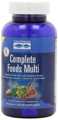Traza de minerales investigación alimentos completos Multi, suministro de 30 días, 240 tabletas