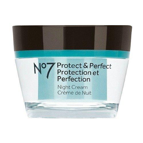 Cargadores No7 proteger y perfecta crema de noche 50ml (1.6 onzas).