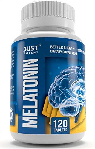 Melatonina de calidad farmacéutica por sólo potentes:: 10mg tabletas:: dormir mejor:: salud del cerebro:: cuenta 120:: acción rápida y no-la formación de hábito de sueño ayuda!