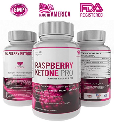 Cetonas frambuesa pura pérdida de peso suplemento dietético Ultra Pro máxima resistencia recomienda dieta pastillas con té verde Acai Berry Mango africanos extracto Resveratrol cafeína libre 600mg