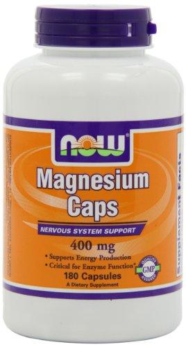 AHORA alimentos magnesio cápsulas, 180 cápsulas / 400mg