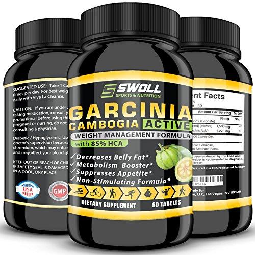 85% HCA - Extracto de Garcinia Cambogia - todo Natural 100% puro apetito Suppresant, bloqueador de carbohidratos, diurético y pérdida de peso suplen fórmula píldoras para adelgazar y la energía de tiempo completo