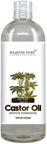 Majestuoso aceite de ricino puro, pelo maravilla aceite con numerosos beneficios para la piel, 16 Oz