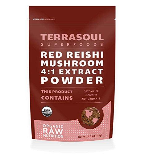 Seta de Reishi rojo en polvo 4:1 extracto (orgánico), 5.5 onzas