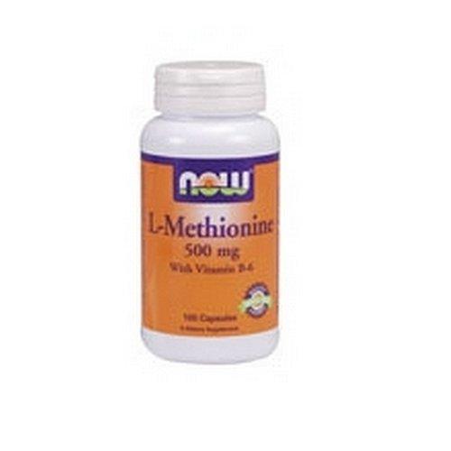 Ahora alimentos L-metionina, 100 cápsulas / 500mg (paquete de 2)