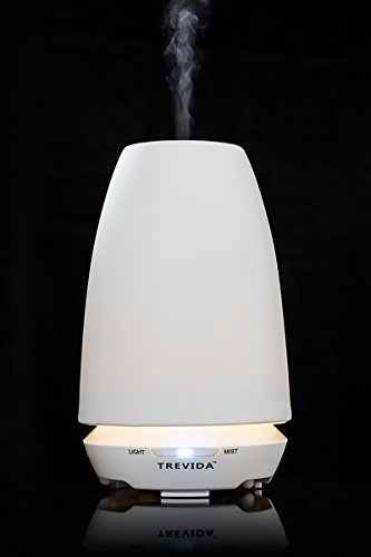 Difusor de aromaterapia ultrasónico de Trevida Ceramica y ambientador Natural para la reducción del estrés y relajación