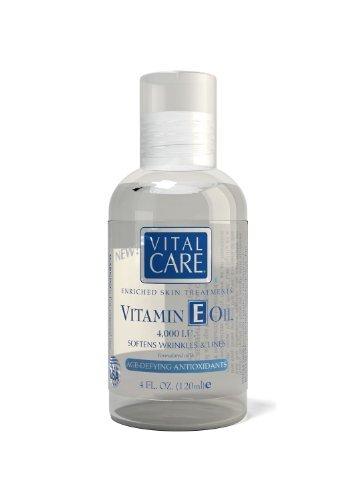 Aceite de vitamina E para la piel, aceite puro de vitamina E suaviza piel, suaviza las arrugas y las líneas, formulado con la edad desafiando antioxidantes, reponer revitalizar y restaurar la belleza Natural de tu piel, grande 4oz.