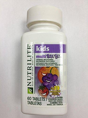 NUTRILITE ® Kids MultiTarts masticable multivitaminas/multiminerales 60 comprimidos, 3 sabores: fresa-Mango, uva y naranja
