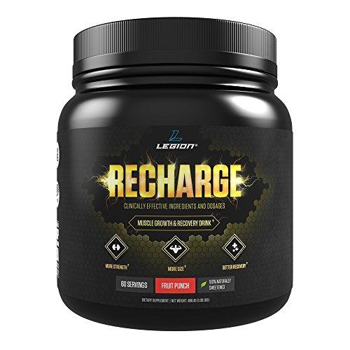 Recarga de Legión - mejor Post entrenamiento suplemento para hombres y mujeres, el mejor polvo de monohidrato de creatina Natural para la recuperación muscular, eficaz Post entrenamiento recuperación bebida - ponche de frutas, 1,14 kg