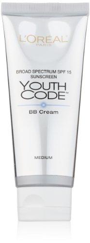L ' Oréal Paris Youth código BB crema iluminador, medio, 2,5 onza líquida