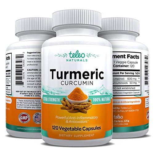 Fuerza extra, 100% Circumin cúrcuma Natural, puro | Antiinflamatorio y antioxidante suplemento de hierbas para el alivio del dolor en las articulaciones | 120 cápsulas