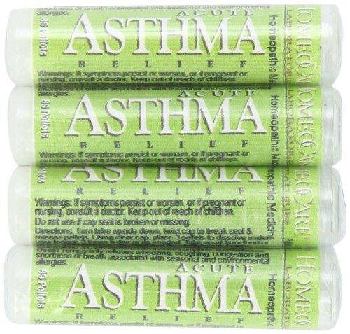 HomeoCare laboratorios alivio del asma aguda, tubo 85-pellets de 1.2 onzas (paquete de 4)