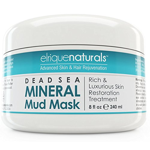 Máscara del fango del mar muerto para cara y cuerpo - máscara del fango del mar muerto mar muerto Natural minerales - ideal para el tratamiento del acné, poros limpiador, exfoliante y exfoliante, crema hidratante, para todo tipo de piel, hombres, mujeres