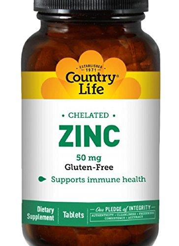 País vida Zinc 50 mg (aminoácido quelado), tableta, 100-cuenta