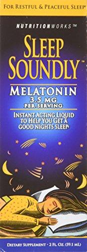 Dormir bien la melatonina, botellas de 2 onzas (paquete de 3)