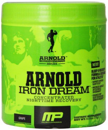 Músculo Pharm Arnold Schwarzenegger serie hierro recuperación durante la noche de sueño, uva, 30 porciones