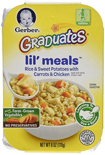 Gerber graduados Lil comidas, arroz, batata, zanahoria y pollo, 6 oz, 6 cuenta