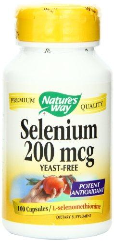Mcg de selenio 200 de forma de la naturaleza, 100 cápsulas