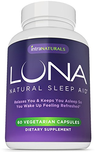 LUNA - 60 cápsulas vegetarianas - inductor del sueño Natural #1 en Amazon - 100% Herbal y no hábito formando Somnífero (hecho con valeriana, manzanilla, pasiflora, Melisa, melatonina y más!) - garantía de por vida IntraNaturals