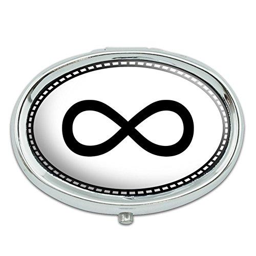 Infinito símbolo Metal Oval caso pastillero