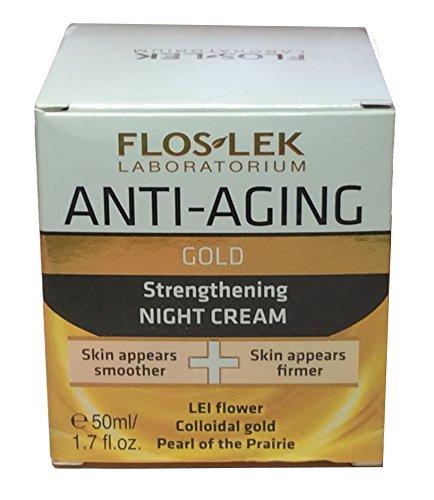 Flos-Lek Laboratorium oro fortalecimiento de noche crema 1.7 fl.oz. / e 50 ml