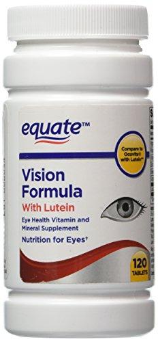 Equiparar - visión fórmula con luteína, ojos salud vitamina y suplemento Mineral, 120 tabletas