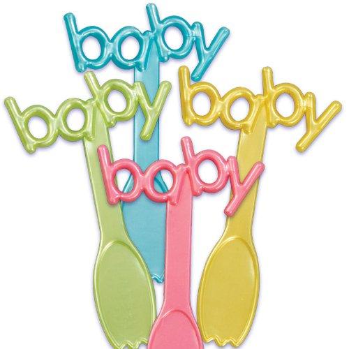 Baby Cupcake Toppers de cuchara (24 hojas)