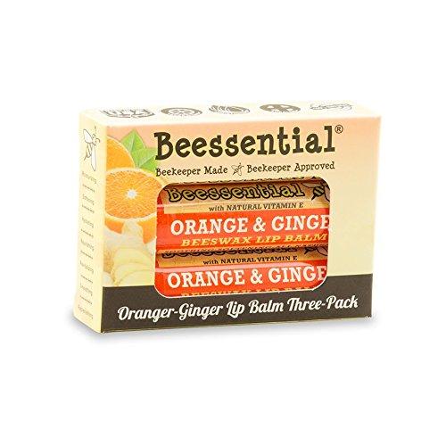 Beessential naranja jengibre Lip Balm (Pack 3)