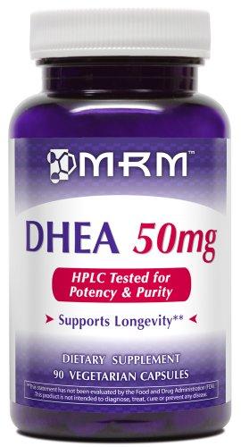 MRM micronizado DHEA vegetariana 50 mg cápsulas, 90-Conde botellas