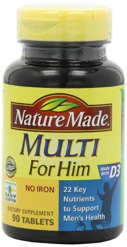 Naturaleza hizo Multi para él, vitaminas y minerales, 90 tabletas