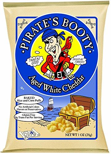 Botín, de queso Cheddar blanco, 1 oz bolsas pirata (cuenta 24)