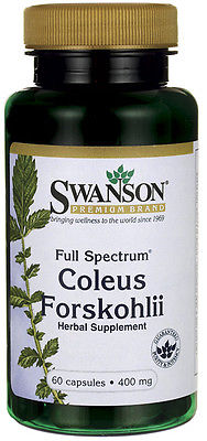 #1 FORSKOLIN Coleus Forskohlii Weight Control 20% Extract Max 400mg EXP. 2017