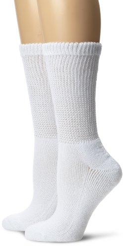 Calzado del Dr. Scholl calcetines de las mujeres 2 Pack Diabetes circulatorio equipo, blanco, 9-11 calcetín/4-10