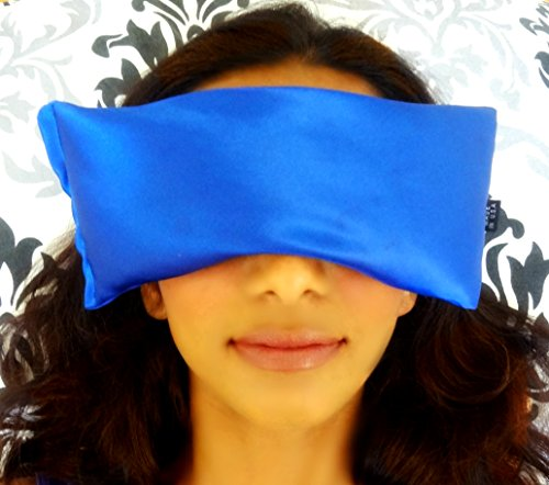 Lujo frío / antifaz por Karmick - almohada ojos lavanda alivia el dolor de cabeza, insomnio y estrés - gran sueño, Sinus Relief y alergias-dormir máscara bloquea luz completamente - hecho en Estados Unidos.