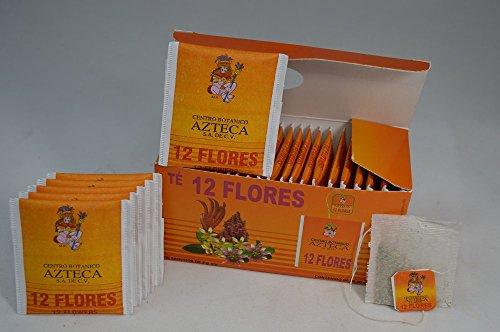 Te 12 Flores auxiliar para el sistema nervioso, insomnio, ansiedad, irritabilidad, anti-stress Natural