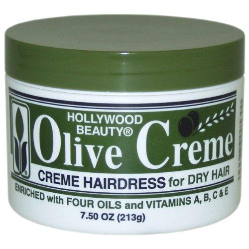 Peluquería de oliva crema de belleza de Hollywood, 7,5 onzas