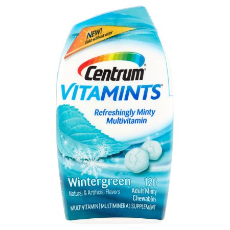 Centrum ® VitaMints® de multivitaminas - multiminerales Suplemento en Wintergreen Flavor Botella 120 ct
