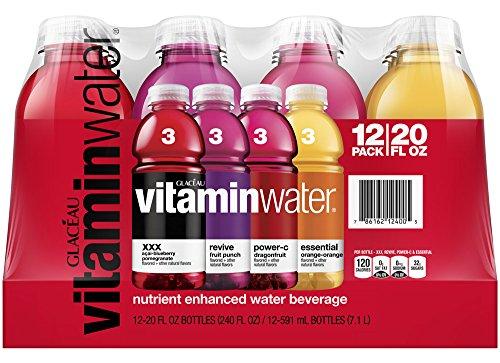 paquete de variedad de vitaminwater, 20 onzas (Pack de 12)