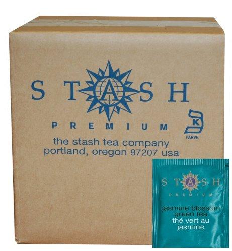 Stash Tea jazmín flor té verde, 100 cuenta caja de sobres de té en hoja