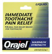 Orajel máxima fuerza dolor de muelas dolor alivio líquido 0,45 Oz